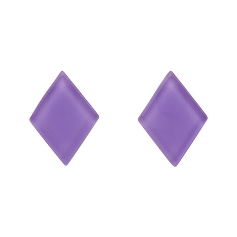 Lavender Bubble Diamond-Shaped Studs (Erstwilder Essentials Resin Earrings) - Glitterally.co.uk