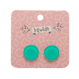 Mint Bubble Circle Studs (Erstwilder Essentials Resin Earrings) - Glitterally.co.uk