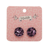 Light Pink Chunky Glitter Circle Studs (Erstwilder Essentials Resin Earrings) - Glitterally.co.uk