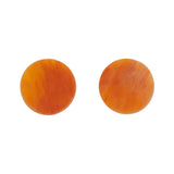 Orange Circle Marble Resin Stud Earrings (Erstwilder Halloween Essentials) - Glitterally.co.uk