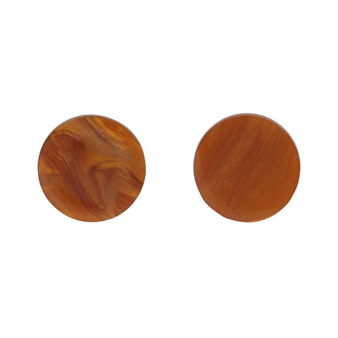 Circle Ripple Resin Stud Earrings - Gold (Erstwilder Art Nouveau Essentials)