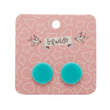 Mint Solid Circle Studs (Erstwilder Essentials Resin Earrings) - Glitterally.co.uk