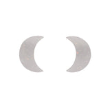 White Crescent Moon Solid Glitter Resin Stud Earrings (Erstwilder Halloween Essentials) - Glitterally.co.uk