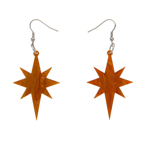 Starburst Ripple Resin Drop Earrings - Gold (Erstwilder Art Nouveau Essentials)