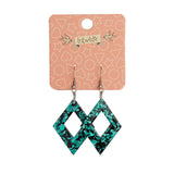 DIAMOND CHUNKY GLITTER RESIN DROP EARRINGS - MINT (Erstwilder Essentials Resin Drop Earrings) - Glitterally.co.uk
