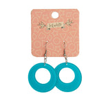 CIRCLE BUBBLE RESIN DROP EARRINGS - TEAL (Erstwilder Essentials Resin Drop Earrings)