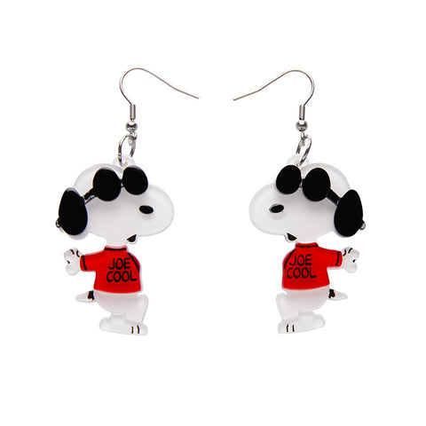 Joe Cool Drop Earrings (Erstwilder x Peanuts Resin Earrings)