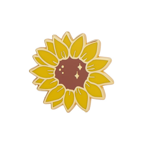 SALUBRIOUS SUNFLOWER ENAMEL PIN (Erstwilder) - Glitterally.co.uk