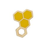 HAPPY HONEYCOMB ENAMEL PIN (Erstwilder) - Glitterally.co.uk