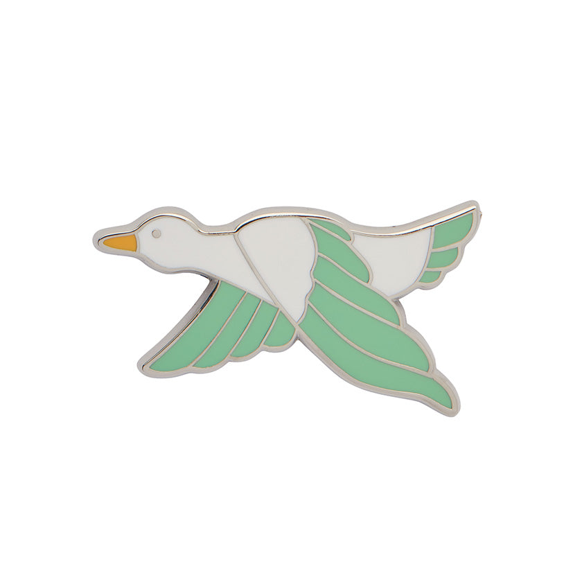 Green Dancing Duck Enamel Pin (Erstwilder Enamel Pin)