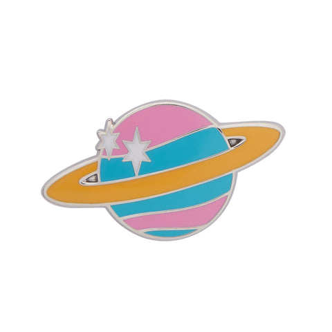 SATURN THE SIXTH ENAMEL PIN (Erstwilder) - Glitterally.co.uk