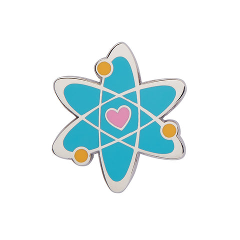 ADVENTUROUS ATOM ENAMEL PIN (Erstwilder) - Glitterally.co.uk
