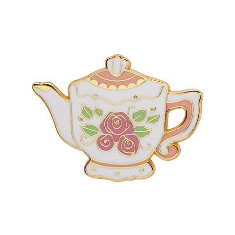 TRADITIONAL TEAPOT ENAMEL PIN (Erstwilder) - Glitterally.co.uk