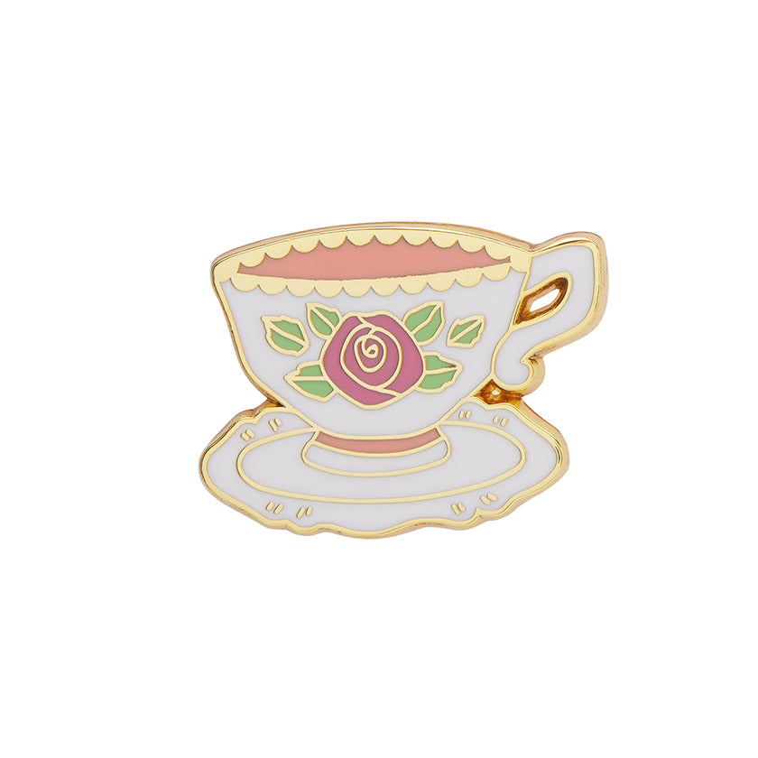 TELLTALE TEACUP ENAMEL PIN (Erstwilder) - Glitterally.co.uk