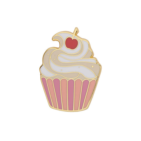 CHARMING CUPCAKE ENAMEL PIN (Erstwilder) - Glitterally.co.uk
