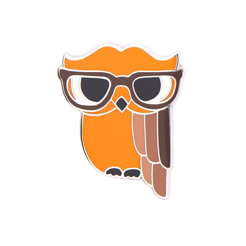 WALDO THE WACKY WISE OWL ENAMEL PIN (Erstwilder) - Glitterally.co.uk