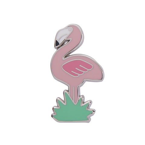 FLAMBOYANT FLAMINGO FUNK ENAMEL PIN (Erstwilder) - Glitterally.co.uk