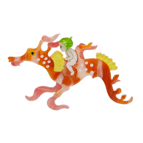 Leafy and the Sea Dragon brooch (Erstwilder Resin Leafy and the Sea Dragon Brooch) - Glitterally.co.uk