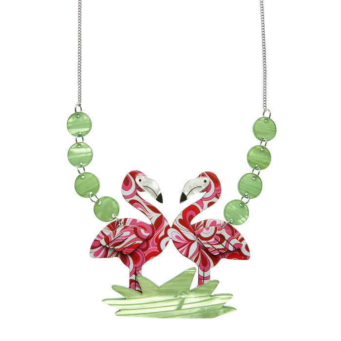 Flamboyant Flamingo Fair (Erstwilder Pink Resin Flamingo Necklace) - Glitterally.co.uk