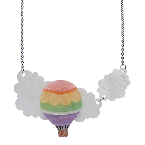 Up in the Clouds Necklace (Erstwilder Resin Hot Air Balloon Necklace)