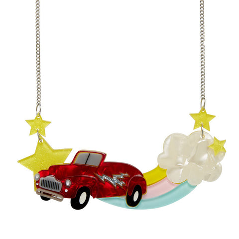 Always Together (Erstwilder Red Resin Car Necklace) - Glitterally.co.uk