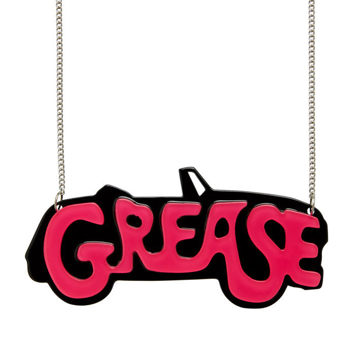 The Word (Erstwilder Red and Black Resin Grease Necklace) - Glitterally.co.uk