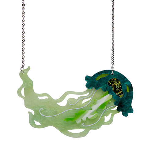 Slippin Under Jellyfish Necklace (Erstwilder Resin Jellyfish Necklace) - Glitterally.co.uk