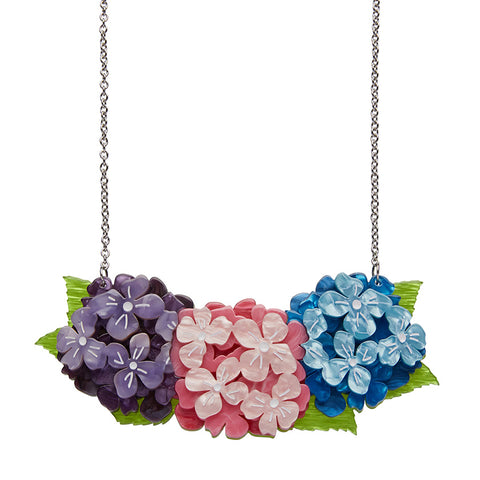 HEARTFELT HYDRANGEA (Erstwilder Resin Hydrangea Necklace) - Glitterally.co.uk