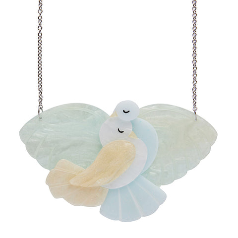 MES COLUMBES DOVES NECKLACE (Erstwilder Art Deco Resin Necklace) - Glitterally.co.uk