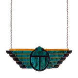 ANCIENT EGYPT REVIVAL NECKLACE (Erstwilder Art Deco Resin Necklace) - Glitterally.co.uk