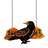 Raven Mad Necklace(Erstwilder Resin Halloween Raven Necklace) - Glitterally.co.uk