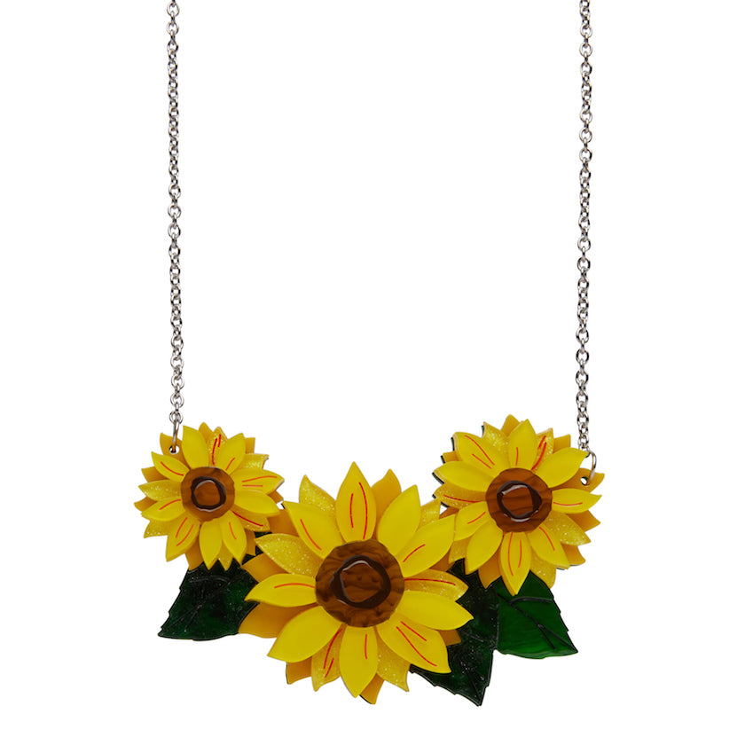 FOLLOW THE SUN NECKLACE (Erstwilder resin necklace)