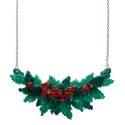 Holly Jolly Necklace (Erstwilder Resin Necklace) - Glitterally.co.uk