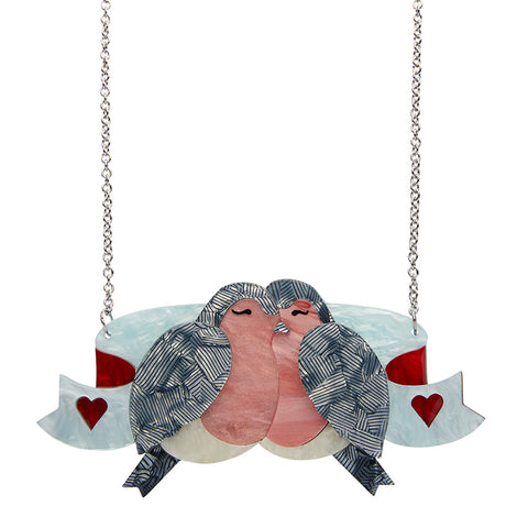 The Lovebirds Necklace (Erstwilder Resin Necklace) - Glitterally.co.uk