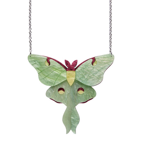 OVER THE MOON (Erstwilder Resin Moth Necklace) - Glitterally.co.uk