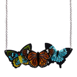KALEIDOSCOPE OF COLOUR (Erstwilder Resin Butterfly Necklace) - Glitterally.co.uk