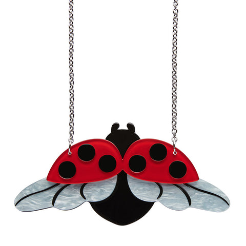 FLY AWAY HOME (Erstwilder Resin Ladybird Necklace) - Glitterally.co.uk