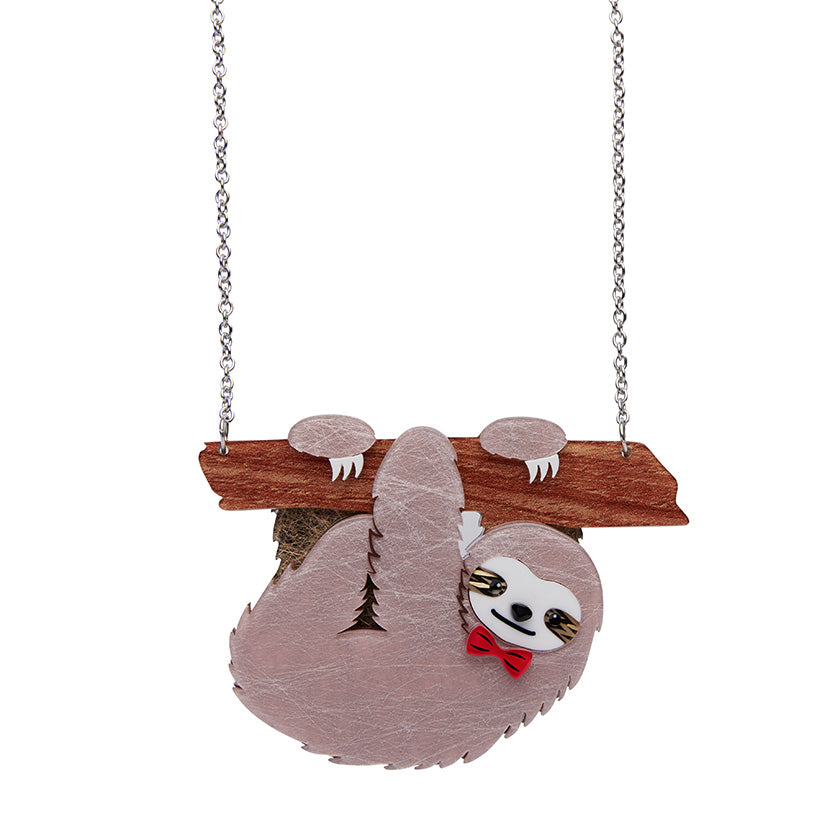 Cyril the Sloth Necklace (Erstwilder Resin Necklaces)