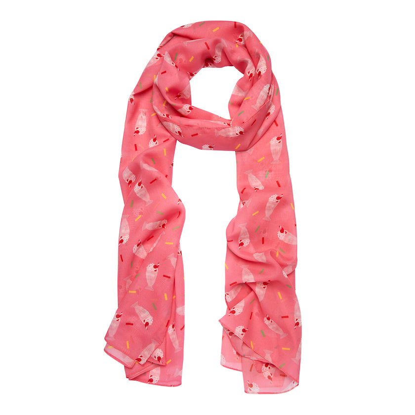 Shake, Rattle & Roll Neck Scarf (Erstwilder Milkshake Neck Scarf) - Glitterally.co.uk