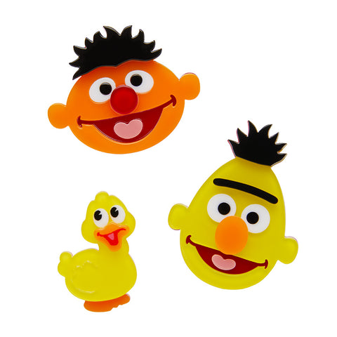 Bert & Ernie Brooch Set - Glitterally.co.uk