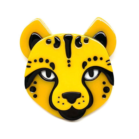 CHEETARA'S CHUM BROOCH (Erstwilder Resin Brooch) - Glitterally.co.uk