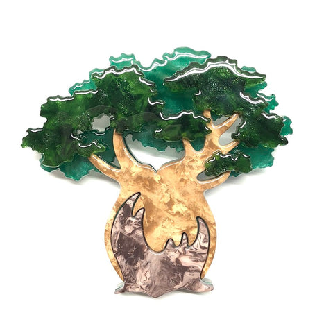 BULBOUS BOABAB TREE BROOCH (Erstwilder Resin Brooch) - Glitterally.co.uk