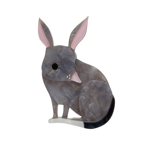 BOUNCY BURROW DWELLER BILBY BROOCH (Erstwilder Bilby Resin Brooch) - Glitterally.co.uk