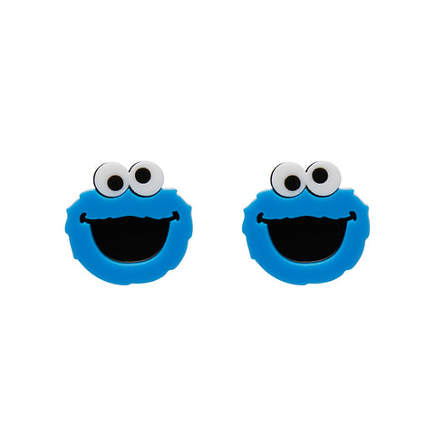 Cookie Monster Earrings (Erstwilder Sesame Street Cookie Monster Resin Earrings) - Glitterally.co.uk