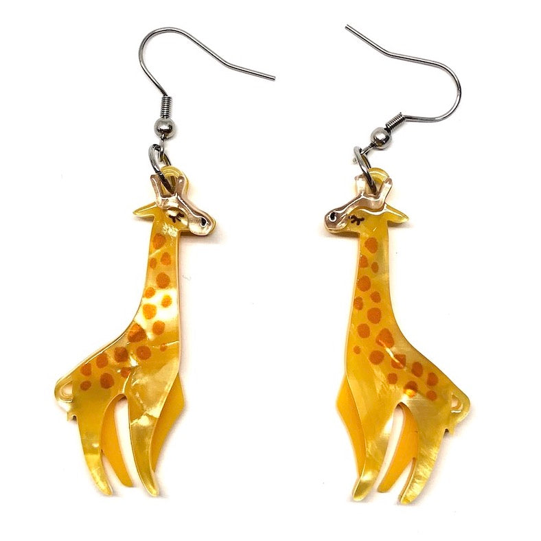 LONG-NECK LOVERS EARRINGS (Erstwilder Resin Earrings) - Glitterally.co.uk