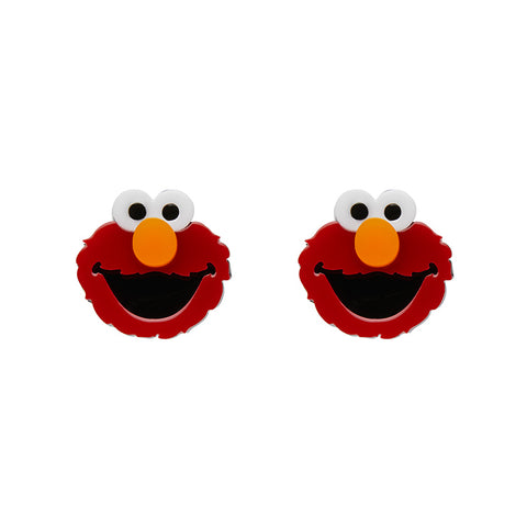 Elmo Monster Earrings (Erstwilder Sesame Street Elmo Resin Earrings) - Glitterally.co.uk