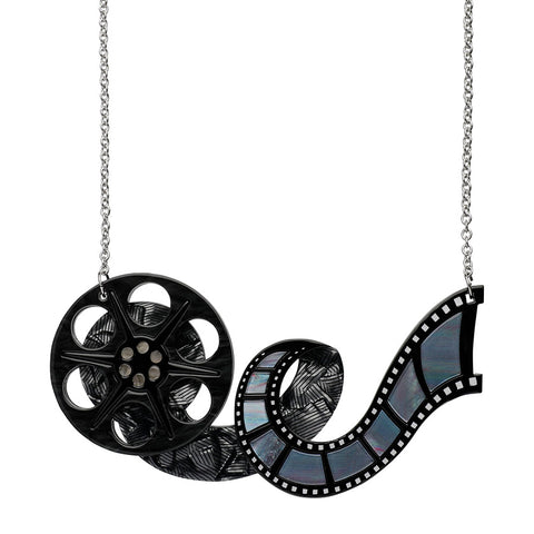35mm Dream Necklace (Erstwilder Resin Hollywood 35mm Film Reel Necklace) - Glitterally.co.uk