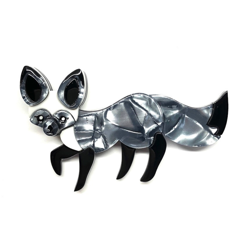 BAT-EARED BESTIE FOX BROOCH (Erstwilder Resin Brooch) - Glitterally.co.uk