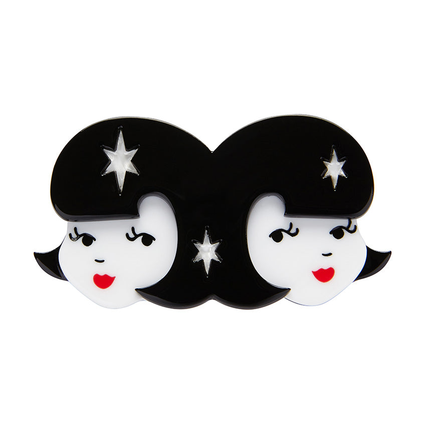 Gemini the Gentle Brooch (Erstwilder resin brooch) - Glitterally.co.uk