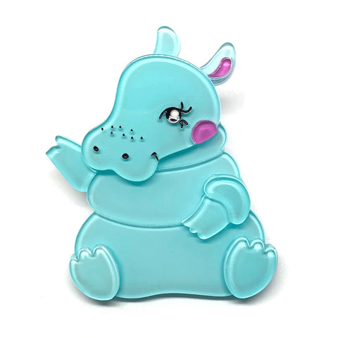 KUBU THE CUTIE HIPPO BROOCH(Erstwilder Resin Brooch) - Glitterally.co.uk
